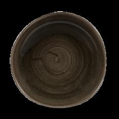 Stonecast Patina Iron Black Round Trace Talerz Płytki