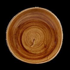 Stonecast Patina Vintage Copper Round Trace Talerz Głęboki