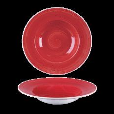 Stonecast Berry Red Profile Wide Rim Talerz Głęboki