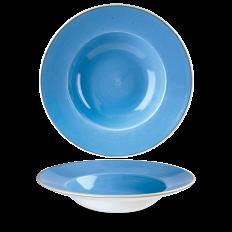 Stonecast Cornflower Blue Profile Wide Rim Talerz Głeboki