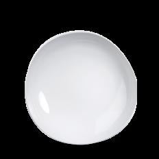 White Round Discover Talerz Głęboki