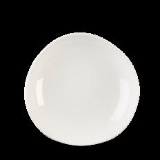 White Round Trace Talerz Głęboki